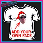 PERSONALISED SANTA CLAUS FATHER CHRISTMAS TSHIRT ADD YOUR OWN FACE TO THE DESIGN